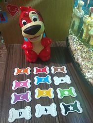 Интерактивная собачка, щенок, изучение цифр, цвета, фигур , red rover