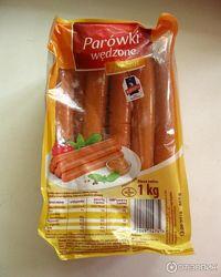 Сосиски 1кг, колбаса рубленая, Польша