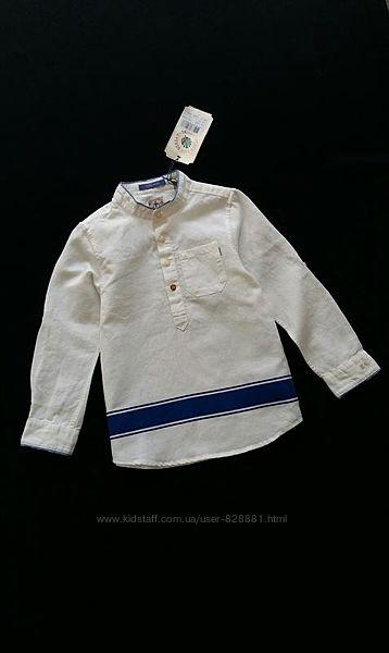 Льняная рубашка Scotch&Soda, Нидерланды, на 5-6 лет, размер 116