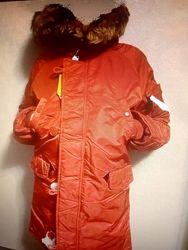 Зимняя куртка Alpha Industries Youth N-3B оригинал Новая  10 лет