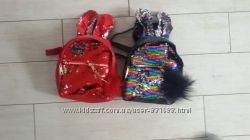 Шикарный рюкзак с двусторонними пайетками перевертышами