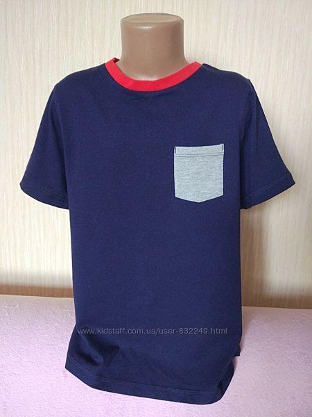 Новая футболка на мальчика синяя George 9 - 10 лет коттон