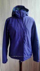 Водостойкая зимняя лыжная куртка на флисе баклажанного цвета