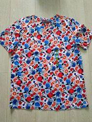 Фруктовая футболка Marks and Spencer uk12