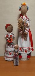 Кукла-мотанка -Берегиня-, рост 10, 15, 18, 22, 26, 50, 90см. Оберег в дом.
