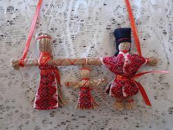 Неразлучники, подарок-оберег Кукла-мотанка. Handmade.