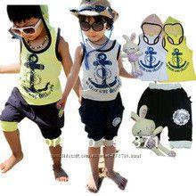Летние костюмы нарядные и повседневные от 1-8лет