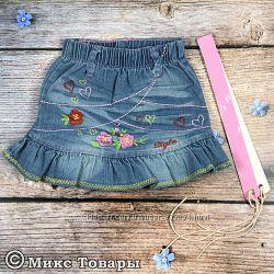Классные джинсовые юбки р. 2-6 лет