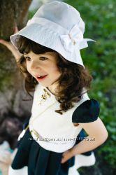 Белая летняя шляпка на девочку Диана