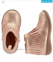 Ботинки US 10 EUR 27 стелька 16, 5 см сапожки Carters для девочки на молнии