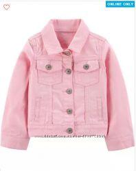 Нежнейший розовый,  белый джинсовый пиджак куртка Картерс, Carters  4-5