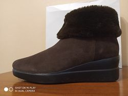 Зимние ботинки с опушкой кофейного цвета Geox. Оригинал. Наш 36 р-р