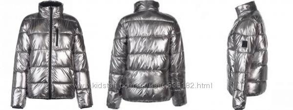 Шикарная женская куртка Everlast металлик серебро