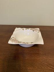 Тарелка пиала салатница с узором стразы