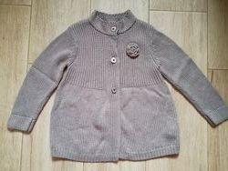 Кардиган кофта Chicco на девочку 4-5 лет