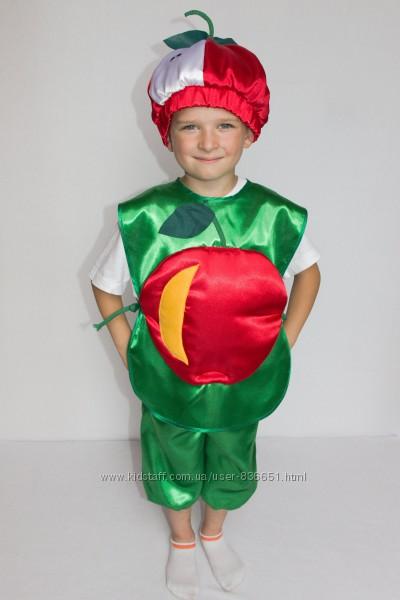 Карнавальный костюм Яблоко 98-122 см продажа