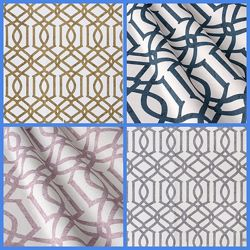 Хлопковая ткань для декора с геометрическим узором, дизайн и пошив