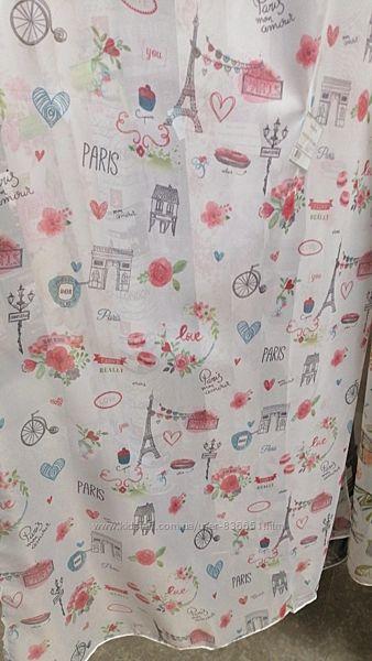 Красивая тюль печать на вуале или шифоне любовь в Париже, пошив
