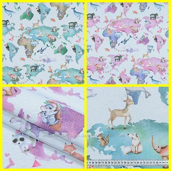Красивые ткань для декора в детскую зоопарк, 2 цвета, пошив