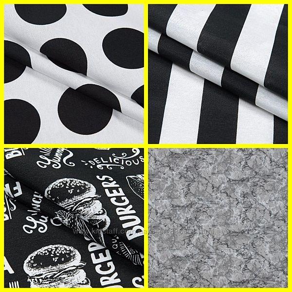 Красивые ткани для декора, черно-белый принт, пошив