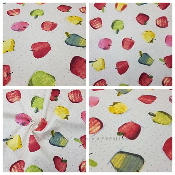 тефлоновая ткань в яблоки, 2 цвета