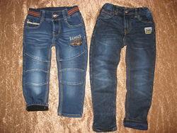 Фирменные джинсы, джоггеры  GEORGE, REBEL, H&M, TU  от 3-6 лет.