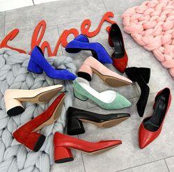 Шикарные открытые туфли лодочки