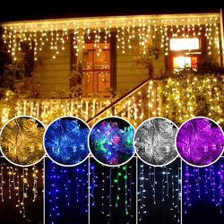 Светодиодная гирлянда бахрома 100LED лампочек с коннектором длина 3м 4 цв