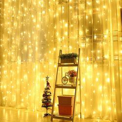 Светодиодная гирлянда штора водопад LED 240 лампочек с коннектором 2х2м
