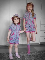 Домашний комплект / пижама для девочки Wiktoria 113 майка, шорты, кофта