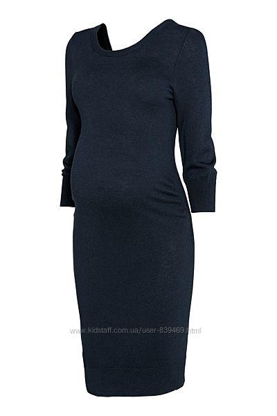 Теплое платье для беременных с бантом H&M, р. S