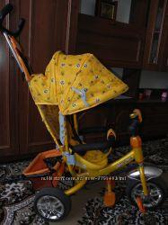 Трёх колёсный велосипед с родительской ручкой