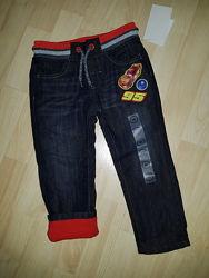 джинсы утепленные флисом фирмы C&A Disney Cars