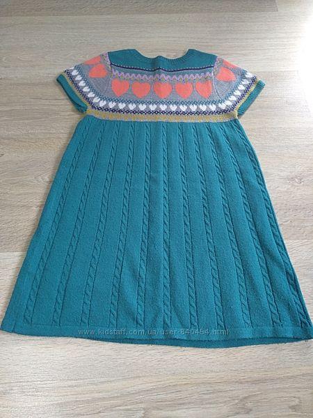Теплое платье в хорошем состоянии, 6 лет, есть замеры и реальные фото