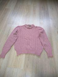 Теплый, нарядный свитер размер S