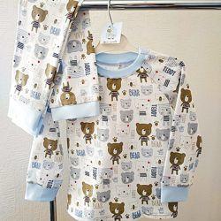 Детская пижама Тедди, кулир рост 80-146