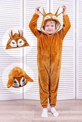 Кигуруми пижама детский и подростковый Лиса рост 98-164
