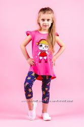 Летний костюм для девочек, рост 92-140
