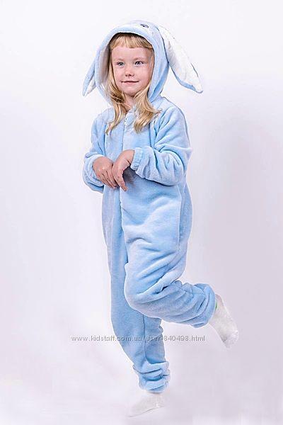 Кигуруми пижама Заяц, детский и подростковый рост 98-164