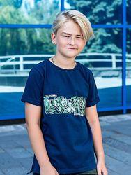 Футболка для мальчиков, подростковая рост 146-158