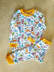 Детская пижама животные, стрейч-кулир рост 80-146