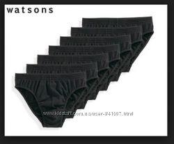 Комплект 7 шт. Мужские  слипы Watsons Германия, размер S- М-белые и черные