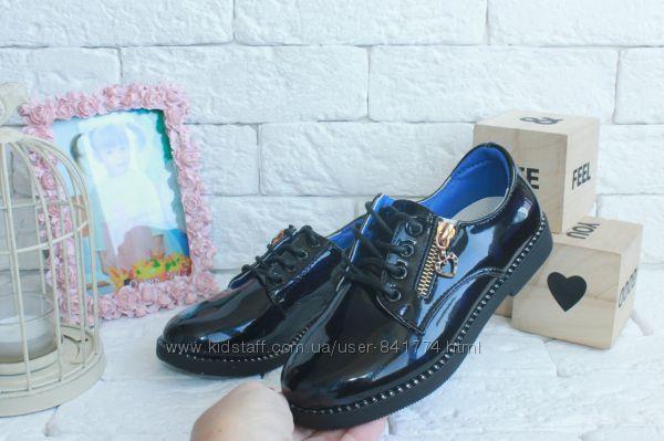 Стильные лаковые туфельки на  модниц 34 рр