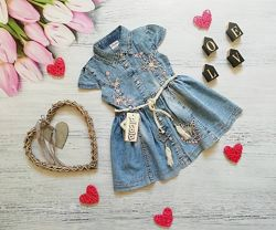 Легенький джинсовый сарафан