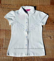 Нарядная школьная блуза для девочки 6-11 лет
