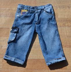 Джинсовые шорты бриджи на мальчика 8-13 лет