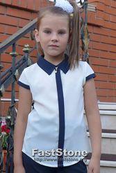 Школьная блуза для девочки 6-12 лет