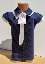 Нарядная школьная блуза футболка на девочку 11-16 лет Benini