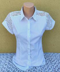 Нарядная белая блуза на девочку Размер 40-42