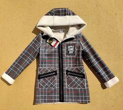 Деми пальто курточка на девочку 6-12 лет